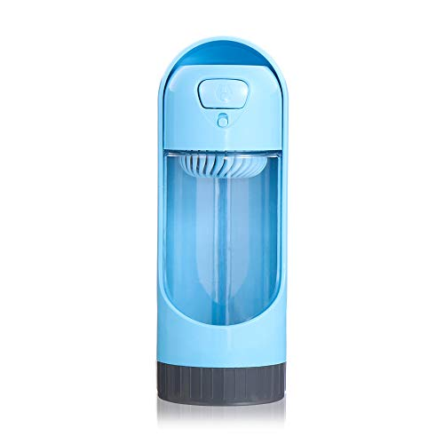 AMICE Alimentador de cachorro de moda Alimentador portátil para mascotas Suministro de agua Dispensador de agua para mascotas Botella de agua Taza de viaje para perros (azul)