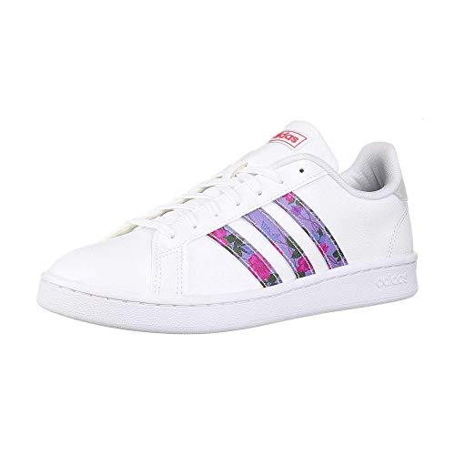 adidas Zapatillas deportivas Grand Court para mujer., Mujer, EG0536, Blanco, 36 EU