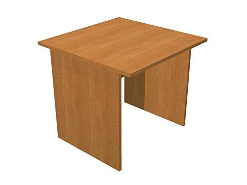 Ideapiu Scrivania faggio con Fianchi melaminico Desk with Panel Legs 800 x 800 x 720h Sp./Thick. 22