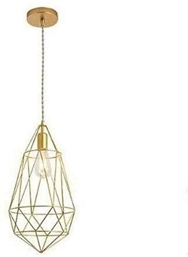 KANGSHENG Lámpara de hierro hueco, romántica, moderna y minimalista, lámpara colgante de metal, pantalla de lámpara, forma geométrica, lámpara de mesa de comedor, para salón, cafetería, restaurante