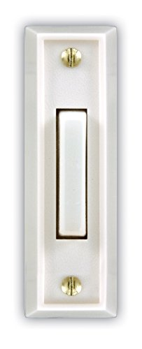 Mejor Heath Zenith SL-925-02 Wired Door Chime Push Button, Antique Brass with Lighted Center crítica 2020