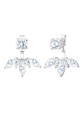 Elli Ohrringe Damen Floral Ear Jackets mit Zirkonia Kristall in 925 Sterling Silber