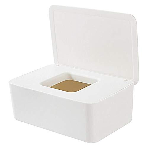 Caja De Servilletas,Caja para toallitas húmedas,Dispensador de Toallitas Húmedas y Secas, Caja Portátil De Viaje con Cubierta a Prueba de Polvo, para Pañuelos Húmedos para El Hogar