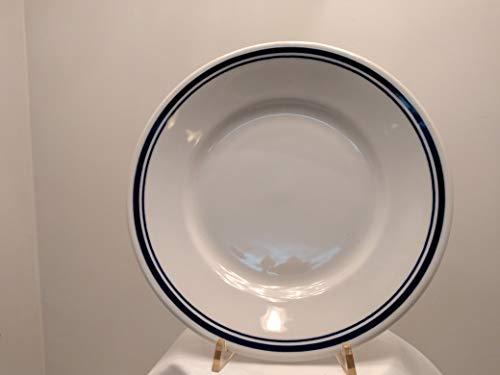 Set 12 piatti piani cm 23.5. Modello ARISTON Cervinia filo blu 2603. Richard Ginori (Vintage,Scelta commerciale)