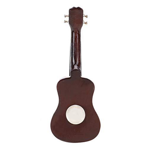 SALUTUYA Artesanía Fina, Apariencia Real, Adorno de Guitarra, con Delicada Caja de Regalo, Tilo, 8 cm, para Sala de Estar