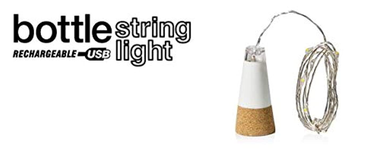 お母さん弾薬幼児SUCK UK Bottle String Light USB充電型ボトルストリングライト インテリア パーティーグッズ USBライト 間接照明 (ホワイト)
