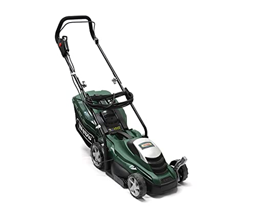 Webb Classic WEER33 Electric Rotary Lawnmower with 5 Cutting Heights, 33cm Cutting Width and 35L Collection Bag - 2 Year Guarantee -