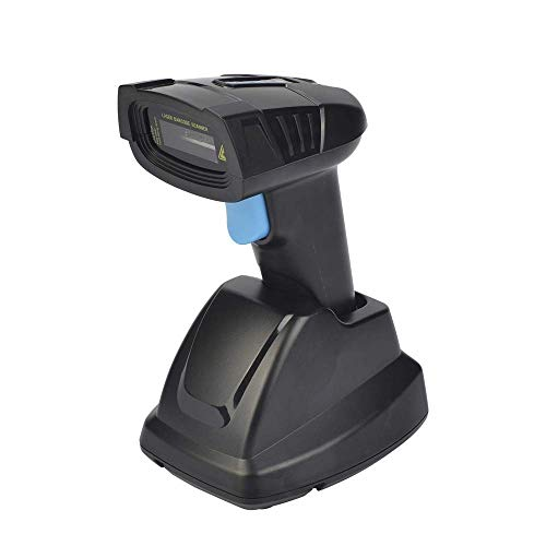 HWZDQLK Scanner de code à barres sans fil avec support 2.4G Scanner Scanner de code à barres Stockage USB Scan Scan Code Pistolet Paiement 3mil Code à barres rechargeable (Size : 1D)