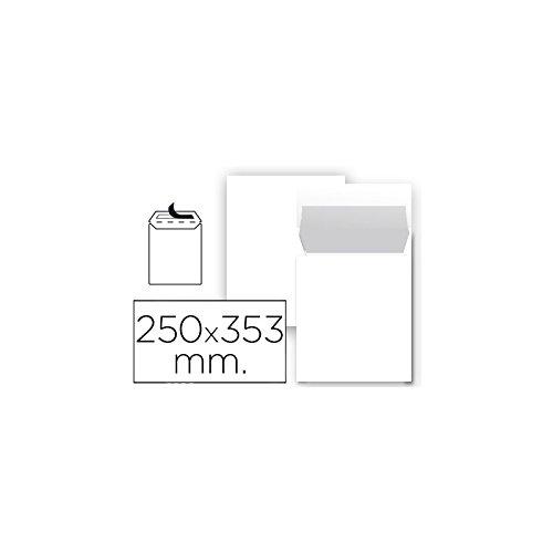 Liderpapel - Sobre Bolsa N 10 Blanco Folio Prolongado 250X353 Mm Tira De Silicona Paquete De 25 Unidades