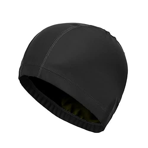 Bonnet De Bain Premium Bonnet De Bain ImperméAble De Haute Qualité Pour Les Femmes Aux Cheveux Longs éLastique Respirant Bonnet De Bain Pu Pour Adultes Bonnet Bain AntidéRapant ImperméAbles éLasticité