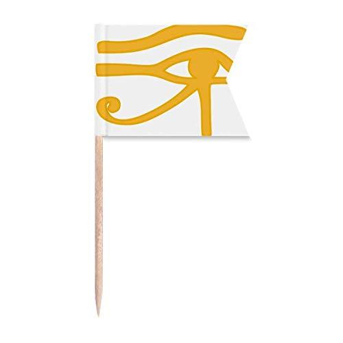 """Beauty Gift Antikes Ã""""gypten Eye Decoration Pattern Markierung für die Kennzeichnung von Zahnstocher-Flaggen"""