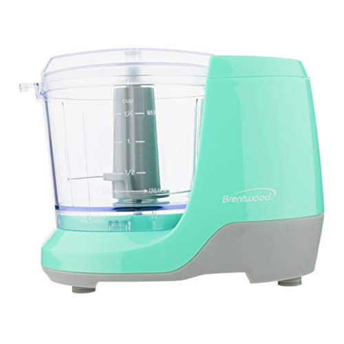 Brentwood MC-109BL Appliances 1.5-Cup Mini Food Chopper (Blue)