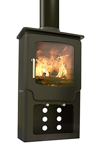 Saltfire Scout Tall Multifuel Woodburning Stove 5kW DEFRA Approved EcoDesign Clean Burn High...