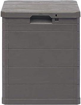 Garden Storage Box Lock Outdoor Deck Cabinet Deck Multi-Function Locker Storage Box,Grey