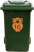Kliko Sticker/Vuilnisbak Sticker - Nummer 16-17 x 22 - Oranje