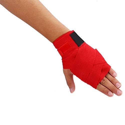 Kadimendium Elastische Handbandagen Hand Wrap Faust Handgelenkschutz für Kinder Kinderspielzeug Geschenk für Kinder Übung(red)
