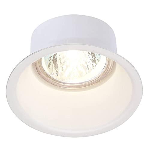SLV Spot Encastré LED HORN-O | Blanc, Rond, Spot de Plafond Variable pour Eclairage Intérieur | Spot LED, Encastré, Projecteur de Plafond | Plafonnier, Lampe Encastrée, 1 Lampe | GU10 QPAR51, EEC E-A++