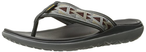 Teva Herren M Terra Float Flip Plateausandalen, Grau (Mosaic Grey/Chocolate- MgchMosaic Grey/Chocolate- Mgch), 42 EU