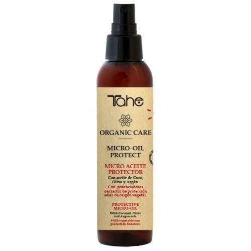 Tahe Micro Oil Protect Organic Care Aceite Capilar con Argán Protección Solar de Origen Vegetal en Spray, 125 ml