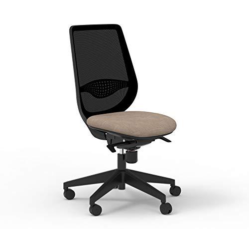 Silla de oficina con asiento marrón (marrón)