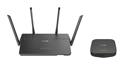 D-Link COVR Whole Home Mesh WiFi System AC3900, Up to 6,000 sq ft, Router & Seamless Extender Wireless Internet MU-MIMO (COVR-3902-US)