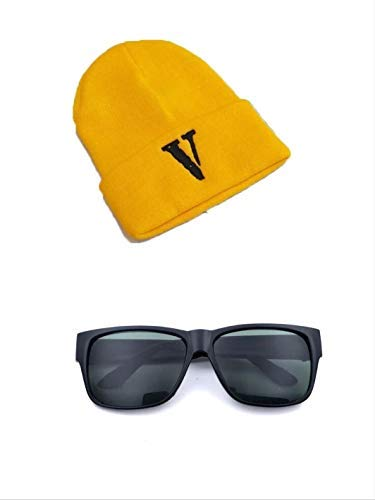 thematys Minion kostuum set hoed en bril voor volwassenen - perfect voor carnaval - one size fits all