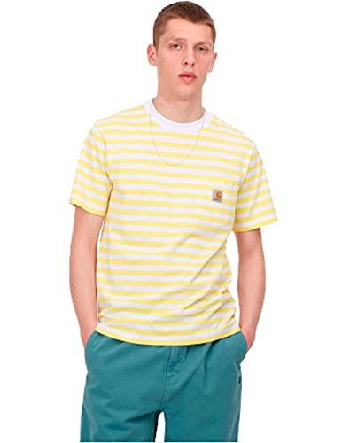 Carhartt S/S Scotty Pocket T-Shirt Uomo (Giallo, L, l)