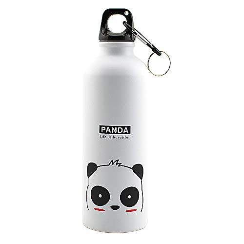 TJYEDUW Botella de acero inoxidable de 17 OzStainless para animales al aire libre, deportes al aire libre, ciclismo, camping, bicicleta, escuela, niños, botella de agua al vacío(color: 01)