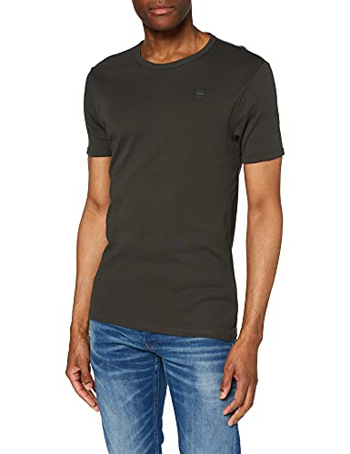 G-STAR RAW Mens D07205 T-Shirt, White/Asfalt 124-8991, XXL