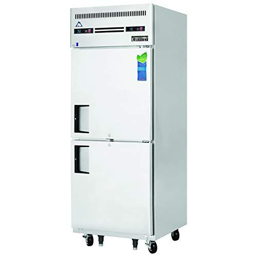 "Everest ESRFH2 29-1/4"" Two Half-Door Upright Reach-in Dual Temp Refrigerator/Freezer Combo, NSF"