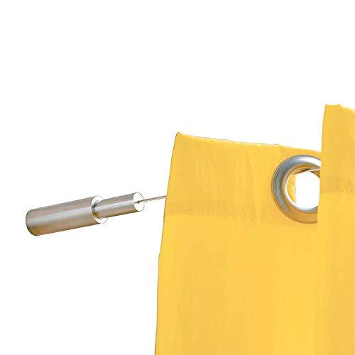 PHOS Edelstahl Design, SSA18Set10, Seilspanngarnitur, von Wand zu Wand, 10 Meter Spannweite, einkürzbar. Seilspannsystem, Gardinenseil, Gardinendraht Stahlseil Seilsystem Drahtseil Vorhang Gardinen