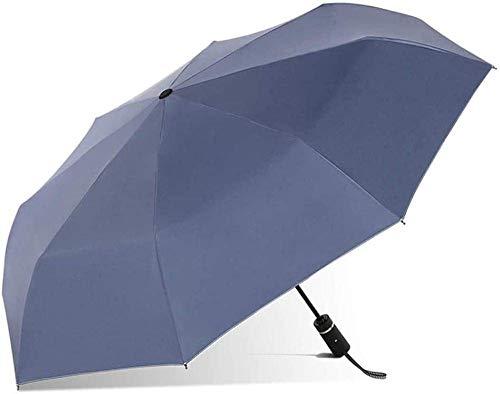 Auto invertido plegable paraguas compacto y ligero a prueba de viento Paraguas de coche revés, paraguas azules for hombre y azul paraguas a prueba de viento, hermosa luz de luz, más resistente a la lá