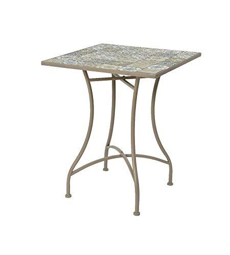 PRG - Mesa plegable con decoración de mosaico 58 x 58 x...