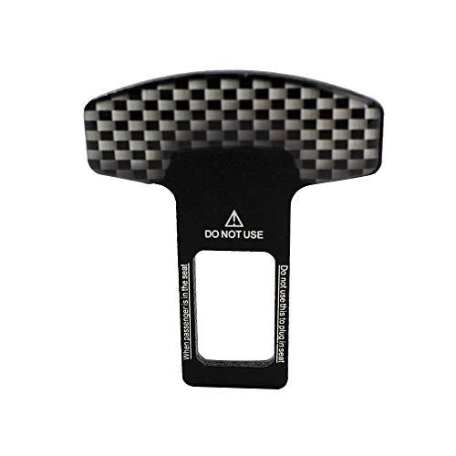 Carrfan Clip de Hebilla del cinturón de Seguridad del automóvil de Fibra de Carbono Car-Styling 1pcs Universal Vehículo montado