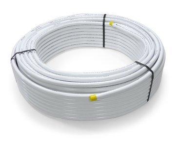 Tubo de unión de aluminio multicapa de 26 x 3,0 mm sin aislar, rollo DVGW PIPETEC de plástico compuesto de tubo de aluminio compuesto PE-RT