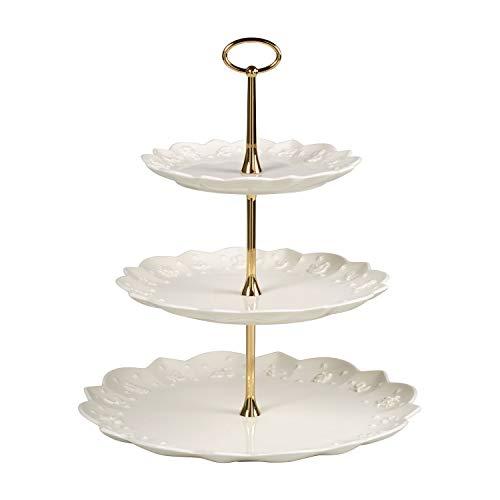 Villeroy & Boch Toys Delight Royal Classic Etagere, dekorative Etagere für Kekse, Gebäck und kleine Kuchenstücke aus Premium Porzellan, weiß