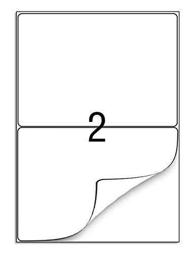 210 x 148 mm, 100 hojas, etiquetas de dirección autoadhesivas A4, etiquetas de envío para impresora de correo, aptas para impresión láser de inyección de tinta, 2 por hoja