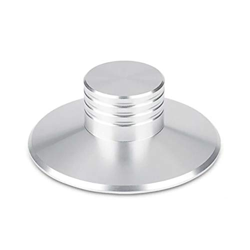 ADUCI 1pc Alta balanza portátil de Metal Estabilizador del Disco La reducción de la vibración Estable de Aluminio Abrazadera Estabilizador del Disco Altavoz de Vinilo LP (tamaño : Plata)