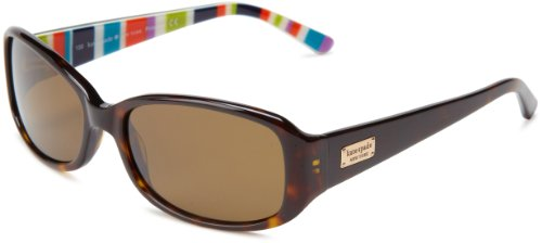 Kate Spade Paxtons Rectangular Sunglasses,Tortoise Stripe,53 mm
