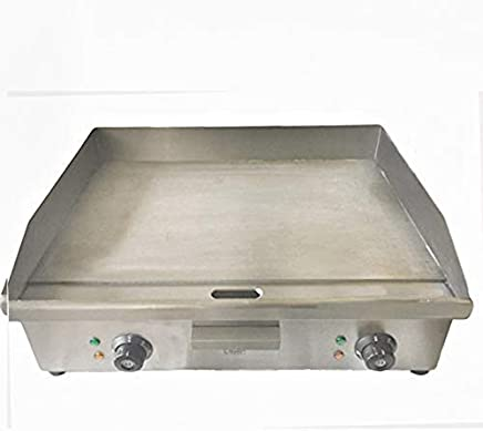 DAVLEX Large Commercial Electric Griddle Hotplate, Twin Sided bacon egg sausage fryer, 600mm grill