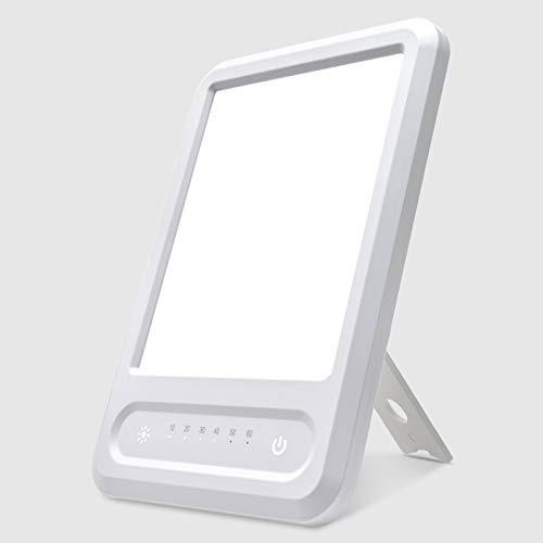 Zuukoo Tageslichtlampe 10000 Lux, Lichttherapielampe,UV-Free Vollspektrumlampe,Tageslicht mit 3 Helligkeitsstufen und 60 Min Timer, Touch-Steuerung, Einstellbar Standfuß,Warmweiss/Kaltweiss/Natur weiß