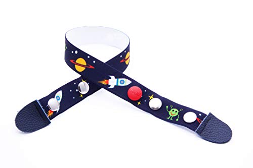 Clip.Ho - kindergordel zonder gesp, elastische riem motief ruimteschip maat 74-176