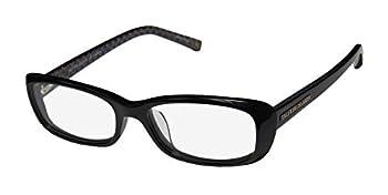 Trussardi 12703 For Ladies/Women Designer Full-Rim Shape Original Case Eyeglasses/Eyewear  51-16-140 Black