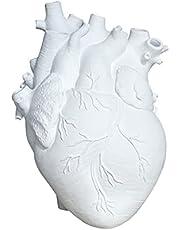 Fenteer Blomma vas dekorativ mittpunkt, harts anatomiskt hjärta staty inflyttningspresenter, tabell centerpeices plantering hem bröllop vardagsrum ..