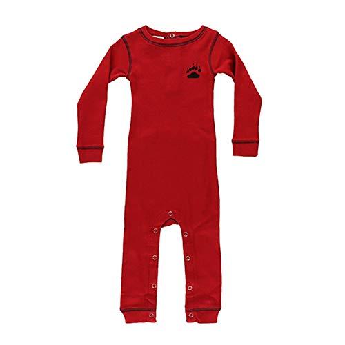 Lazyone - Pyjama Bear bottom bébé et nourrisson - 6 mois, Rouge