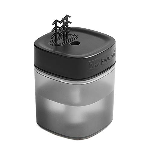 Richgv Humidificador Ultrasónico, Humidificador Bebés con Lámpara, Difusor de Aceites Esenciales 400ml Hasta 8-12hrs, Modo de Sueño, Auto Apagado sin Agua (400mL,Negro)