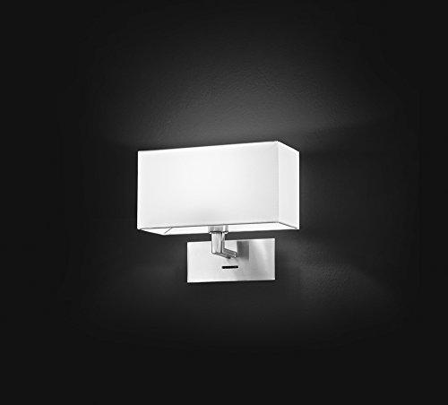 APPLIQUE DA MURO CROMO SPAZZOLATO CON PARALUME IN PVC PERENZ-5880CR monta lampadina 1xE14 Max 40W