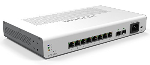 NETGEAR GC510P 10-poorts Gigabit Ethernet LAN PoE-switch Insight Managed Smart Cloud (met 8x PoE+ 134 W, 2x 1G SFP, desktop- of rekmontage)