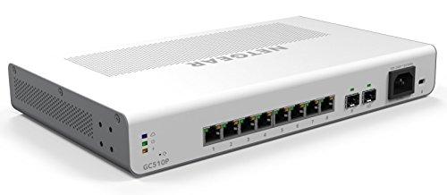 NETGEAR GC510P 10-poorts Gigabit Ethernet LAN PoE-switch Insight Managed Smart Cloud (met 8x PoE+ 134 W, 2x 1G SFP, desktop- of rekmontage)