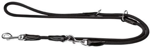 HUNTER Freestyle Verstellbare Führleine für Hunde, robust, wetterfest, 1,0/200 cm, schwarz